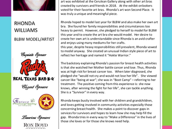 MEET THE MODEL - RHONDA WILLIAMS