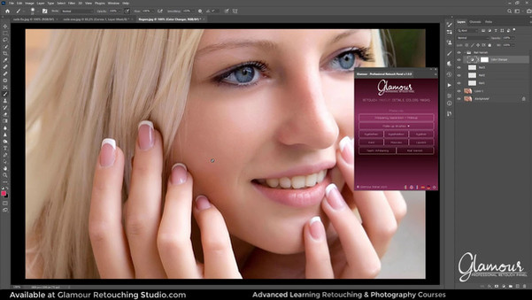 How To Color or Enhance Nail Polish In Photoshop Using Glamour Professional Retouch Panel