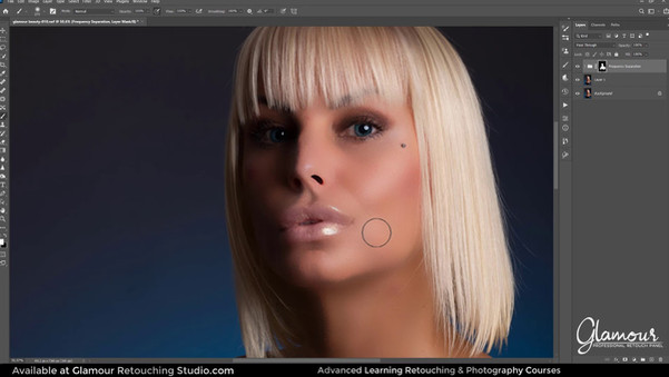 Frequency Separation Glamour Professional Retouch Panel