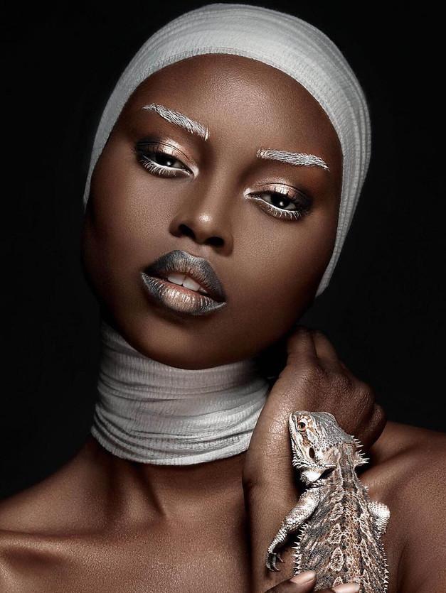 Dark Skin Beauty Retouching