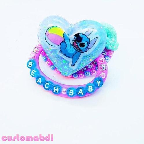 Beach Baby Heart - Lavender & Baby Blue - Alien - Rainbow