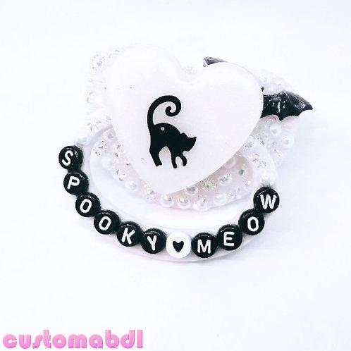 Spooky Meow - White & Black