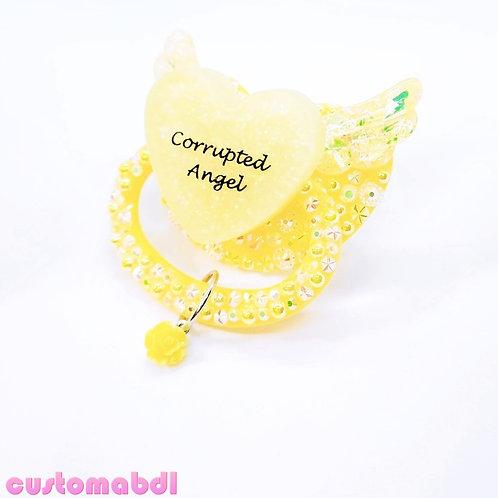 C Angel Heart w/Charm - Yellow - Wings
