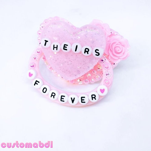 Theirs Forever Heart - Pink