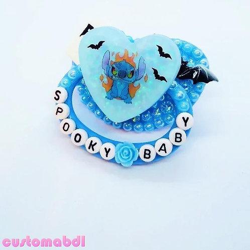 Spooky Baby Alien Heart - Baby Blue - Tombstone, Bat