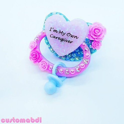 I'm My Own CG Heart w/Charm - Baby Blue & Lavender