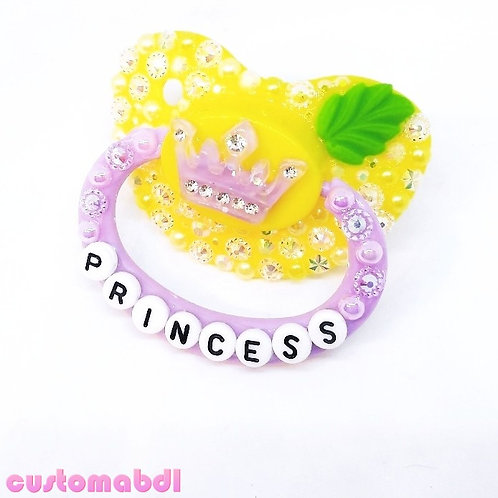 Princess Tiara Crown - Yellow, Lavender & Green