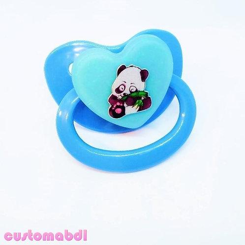Simple Baby Panda Heart - Baby Blue