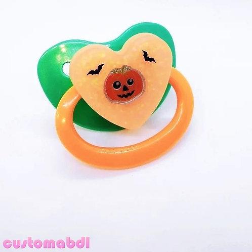 Simple Pumpkin Jack-O-Lantern - Teal & Orange