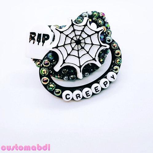 Creepy Spider Web - Black & White