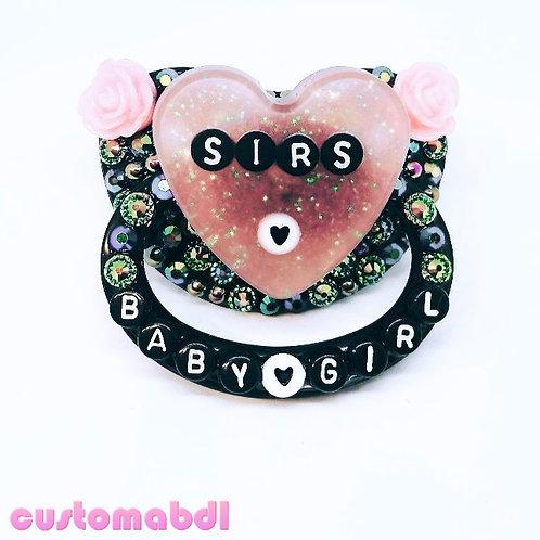 S's BG - Peachy Pink & Black