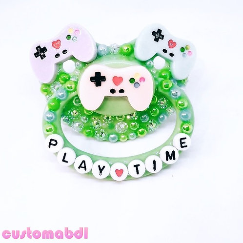 Play Time - Gamer - Green, Baby Blue, Lavender & Peachy Pink