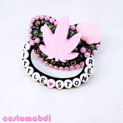 Little S Leaf - Black & Pink