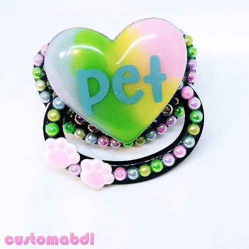 Pet Heart Paws - Black, Baby Blue, Yellow, Green, Pink, Baby Blue & Lavender