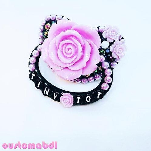Tiny Tot La Fleur - Black & Lavender - Rose, Flower, Floral