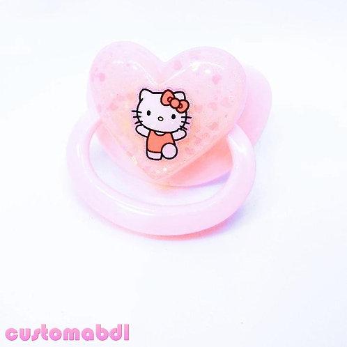 Simple HK Kitten Heart - Pink