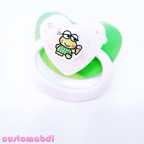 Simple Frog Heart - Green & White