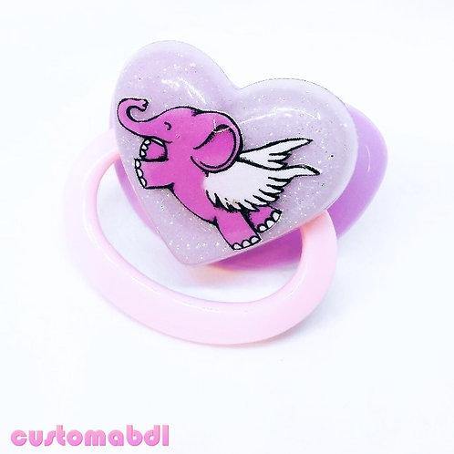 Simple Elephant - Pink & Lavender