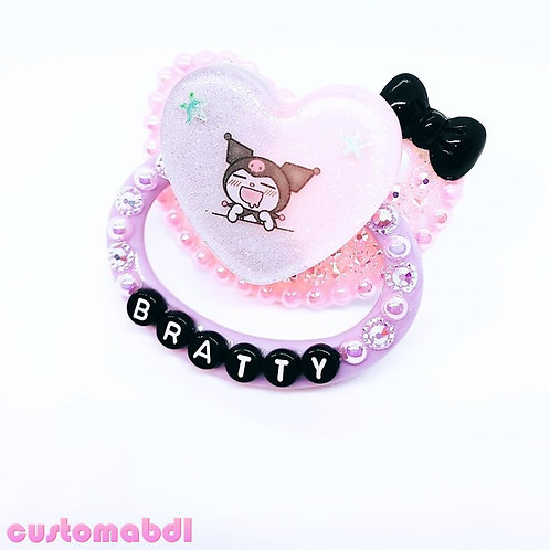 Bratty Heart - Pink, Lavender & Black