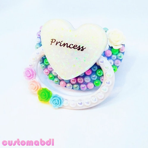 Princess Heart - Baby Blue, White, Pink, Green & Lavender