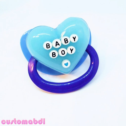 Simple Baby Boy Heart - Blue & Baby Blue