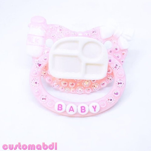 Baby Tray - Pink & White