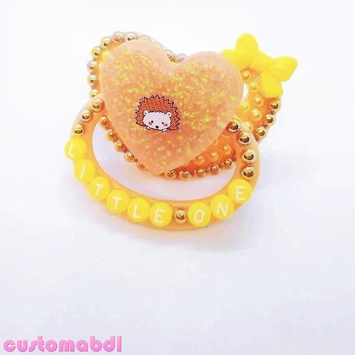 Little One Hedgehog Heart - Tan, Yellow & Brown