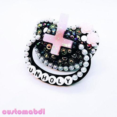 Unholy Cross - Black, White & Pink
