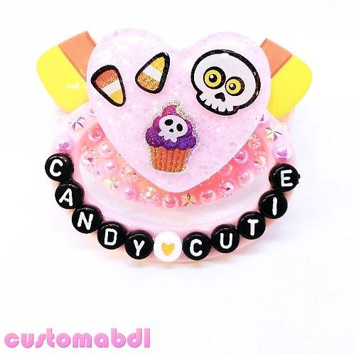 Candy Corn Cutie - Pink & Black