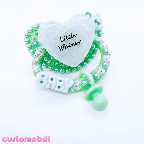 Little Whiner Heart w/Charm - Mint Green - Baby, Lock