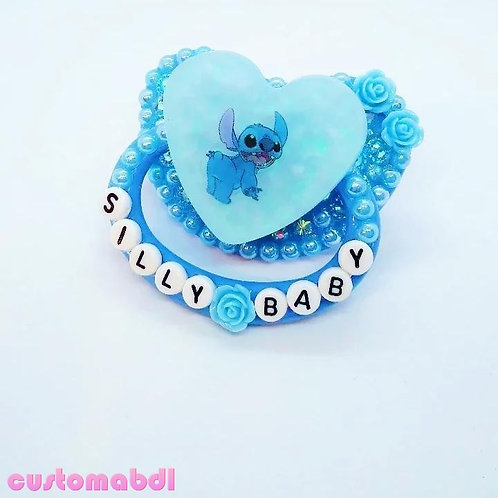 Silly Baby Alien Heart - Baby Blue