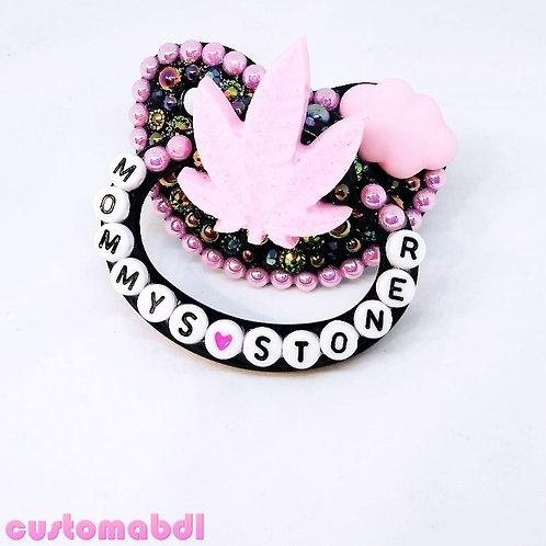 M's S Leaf - Black & Pink
