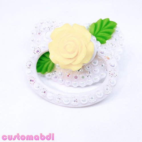 Vintage Rose - White, Yellow & Green