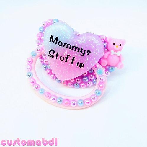 M's Stuffie Heart - Pink, Baby Blue & Lavender