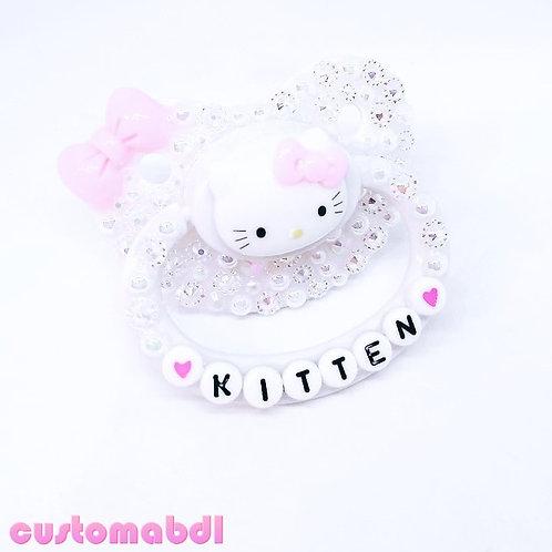 HK Kitten - White & Pink