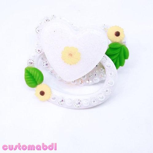 Vintage Floral - White, Yellow & Green