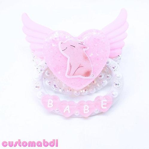 Angel Babe - White & Pink Pig