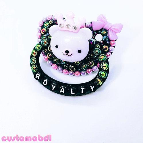 Royalty Bear - Black, Lavender & Pink - Prince, Princess