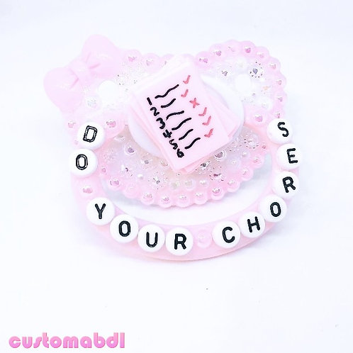 Do Your Chores - Pink & White