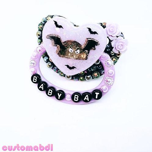 Baby Bat Heart - Lavender & Black