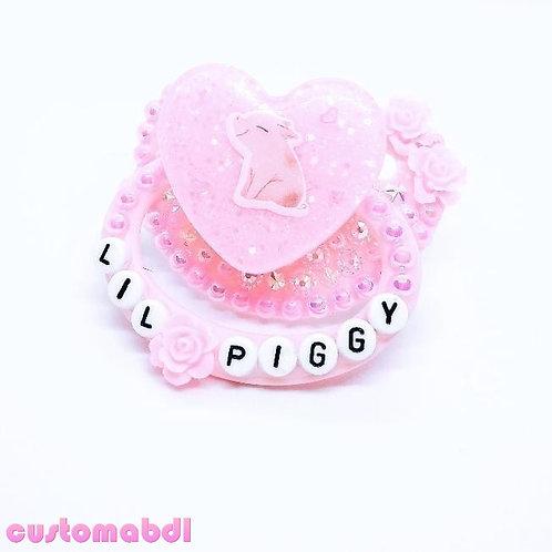 Lil Piggy Pig Heart - Pink