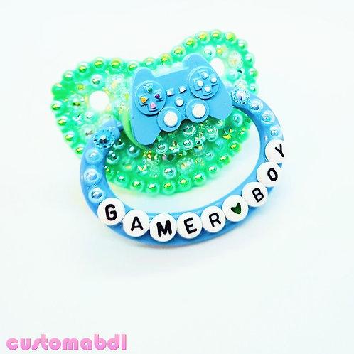 Gamer Boy - Green & Baby Blue