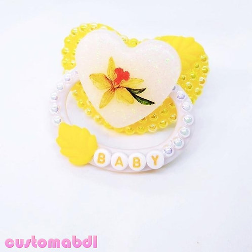 Floral Baby Heart - White & Yellow