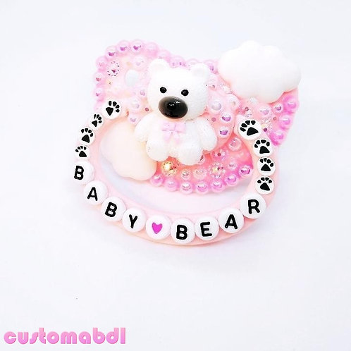 Baby Bear Clouds - Pink & White
