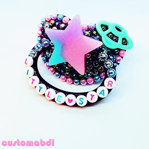 Little Star - Purple, Pink, Lavender & Baby Blue - Space - Galaxy, Stars