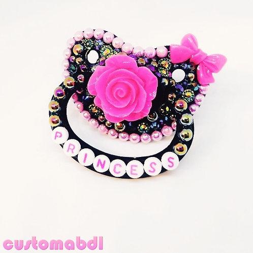 Princess Rose - Black & Hot Pink