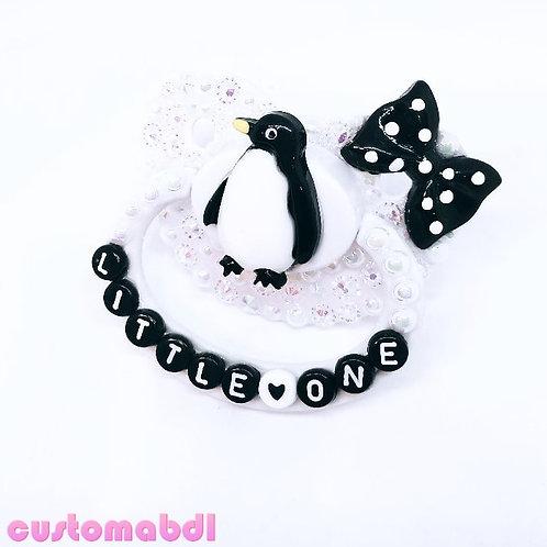 Little One - Penguin - Black & White