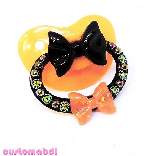 Simple Bows - Black & Orange