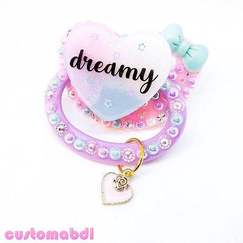 Dreamy w/Charm - Pink, Lavender, Blue & White