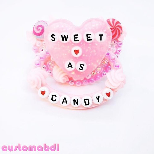Sweet As Candy Heart - Pink